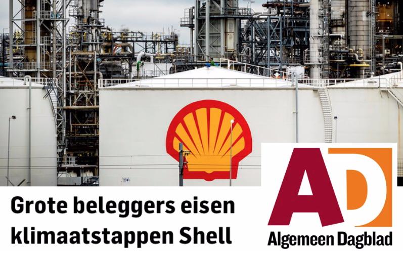 In het AD was te lezen hoe aandeelhouders klimaatstappen eisen van Shell