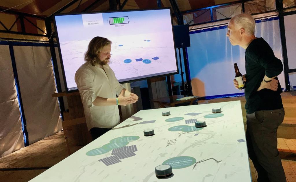 Foto van energietafel in het Energiecircus