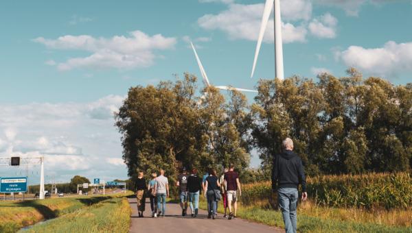 De locatie van het toekomstige innovatieve energielandschap bij de Grift