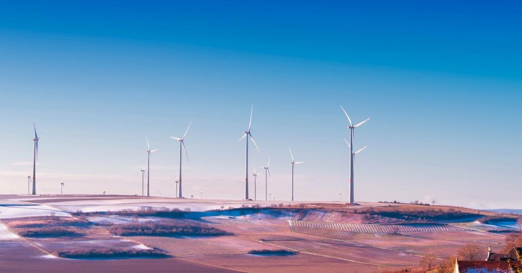 Windmolenpark in Duitsland